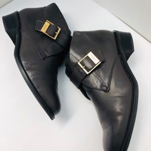 Etienne Aigner Brown Leather Bootie